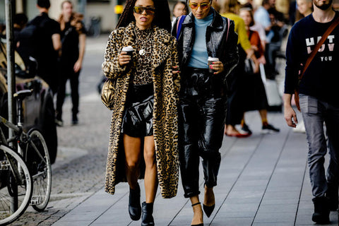 Leopard print coat for ss19 Stockholm Fashion Week