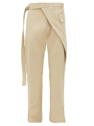 Wrapped Waist Beige Trousers - Available at Matches Fashion