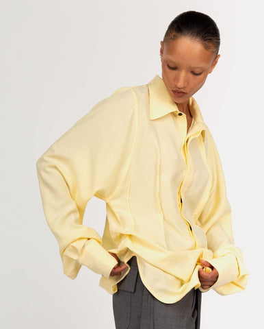 Bianca Saunders - Harlem Yellow Shirt - available at Machine A