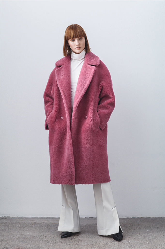 anne vest cozy shearling coat coze pink how to wear