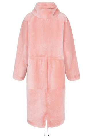 Anne Vest Parker Shearling Coat in Light Pink
