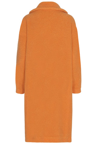 Anne Vest Berri Orange Fur Coat