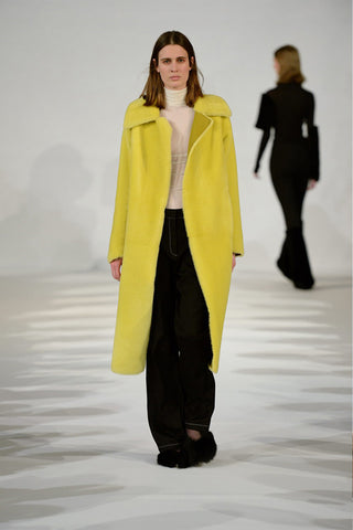 Ada Shearling Coat in Yellow