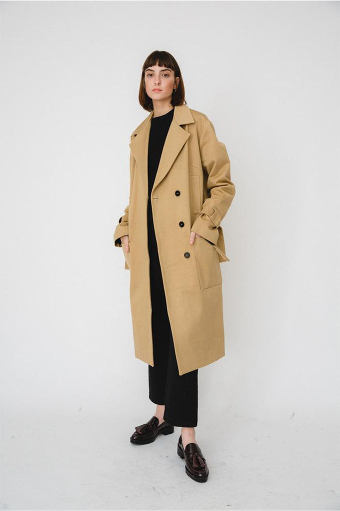 Beige Oversized Trenchcoat