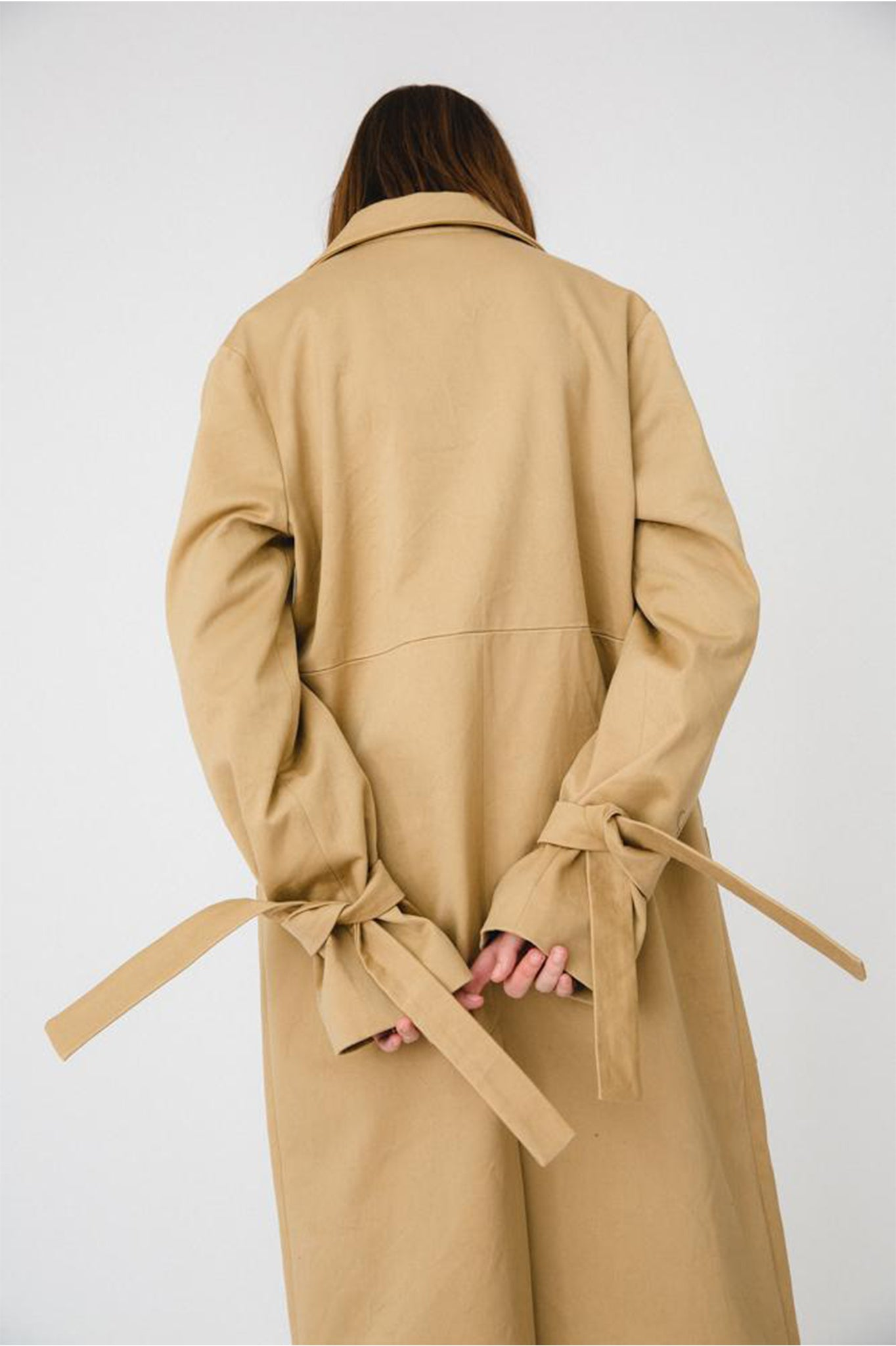 Buffet Beige Oversized Trench Coat