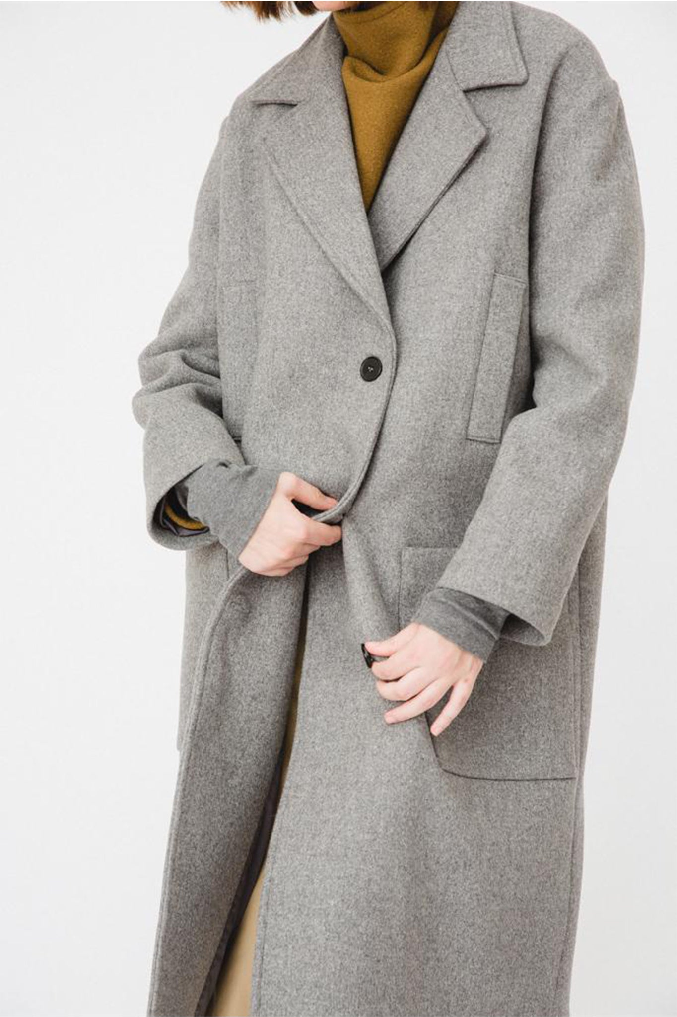 Buffet Classic Grey Oversized Coat