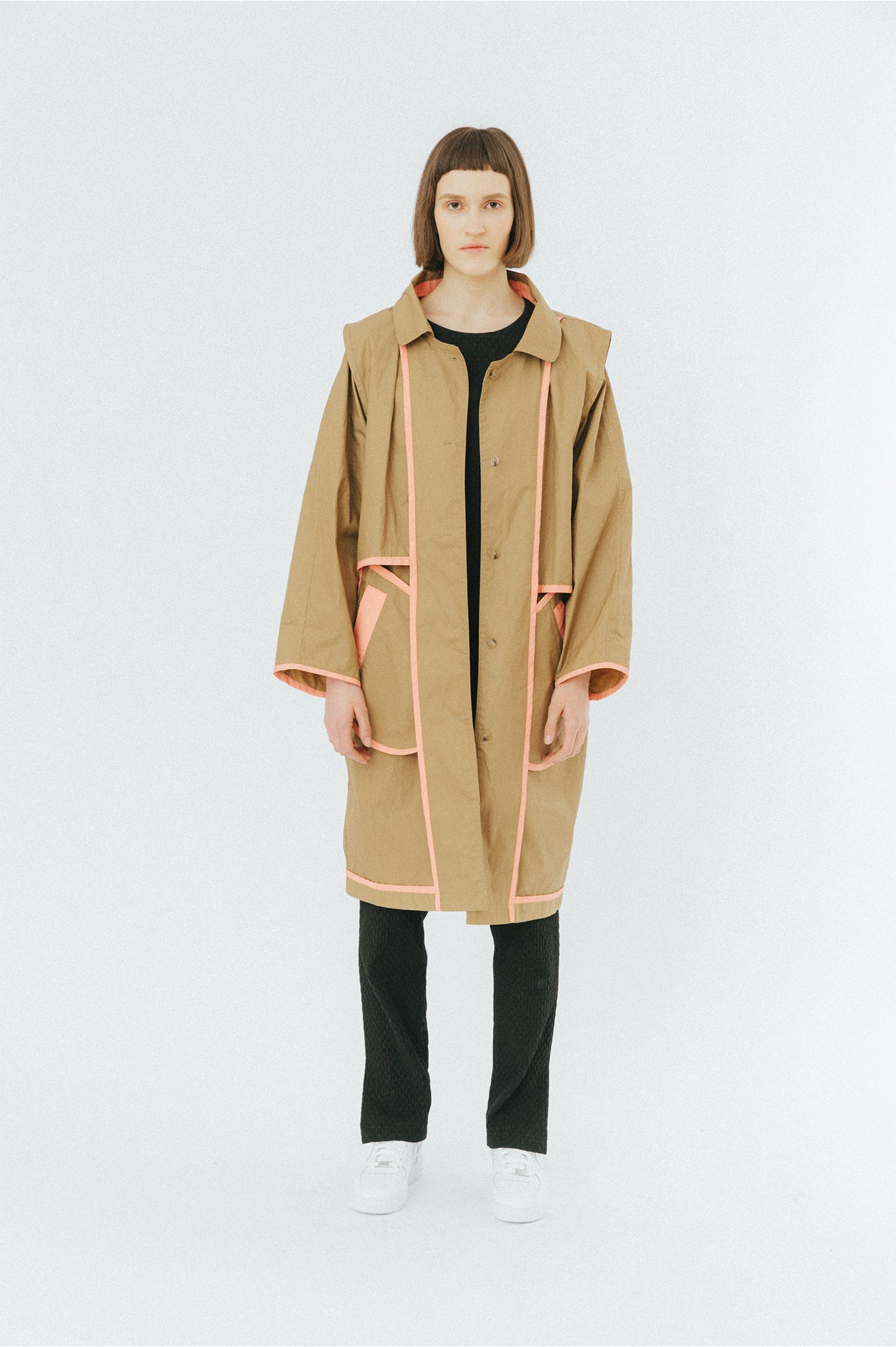 Buffet Oversized Camel Trench Coat