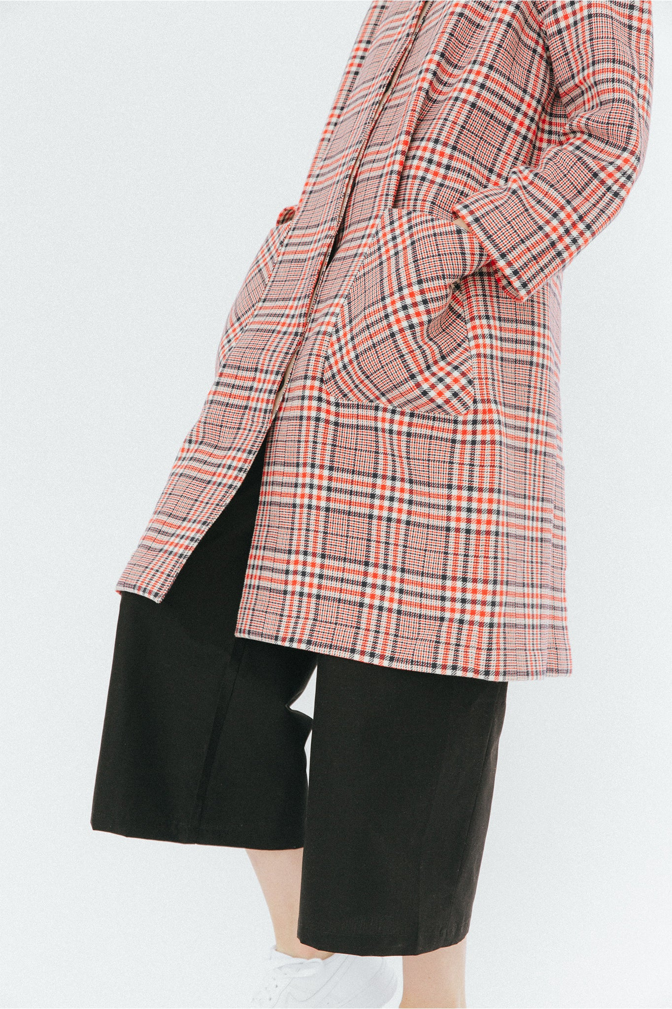 Buffet Oversized Red Checked Coat
