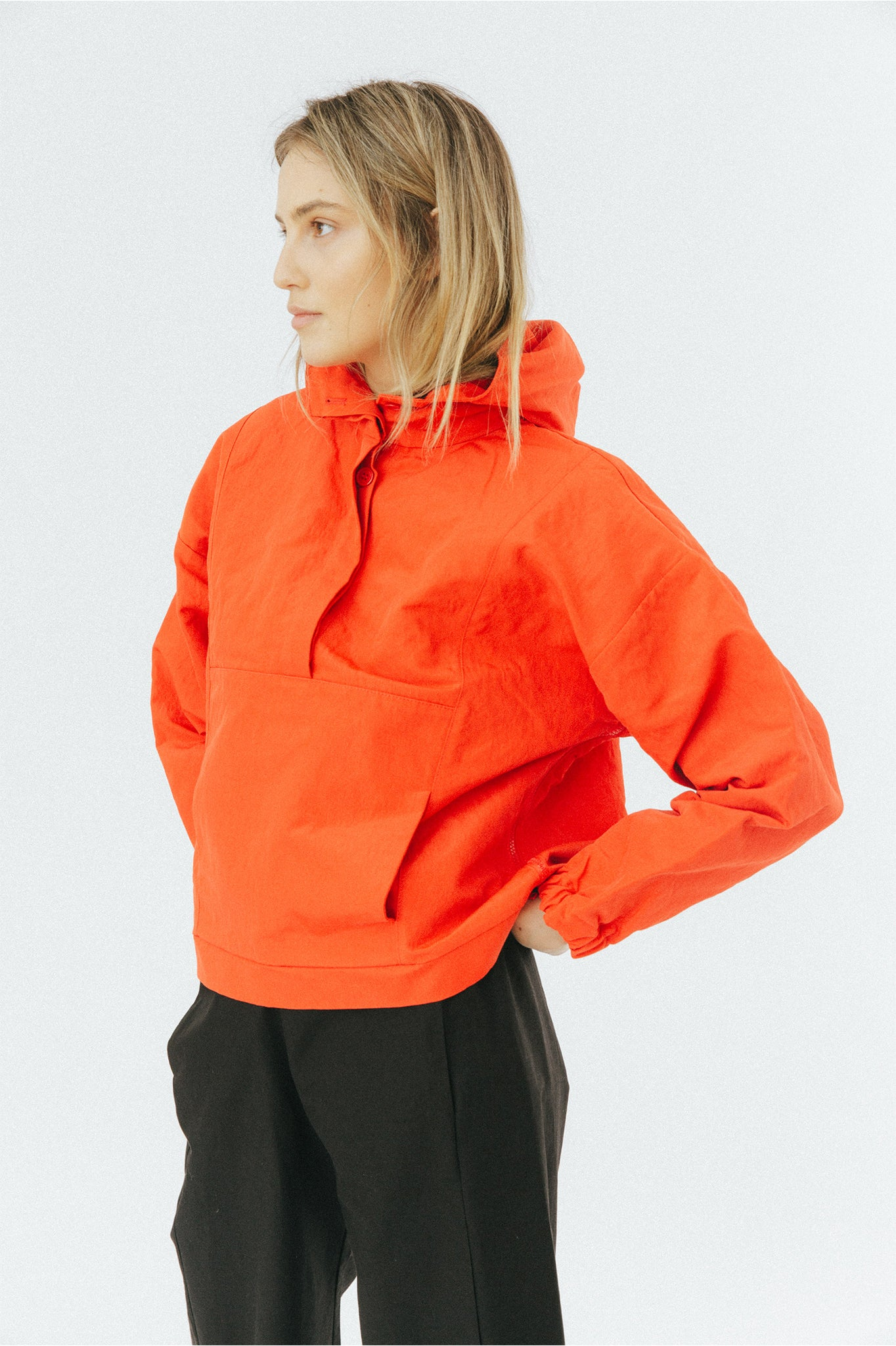 Buffet Sporty Red Overhead Anorak Jacket
