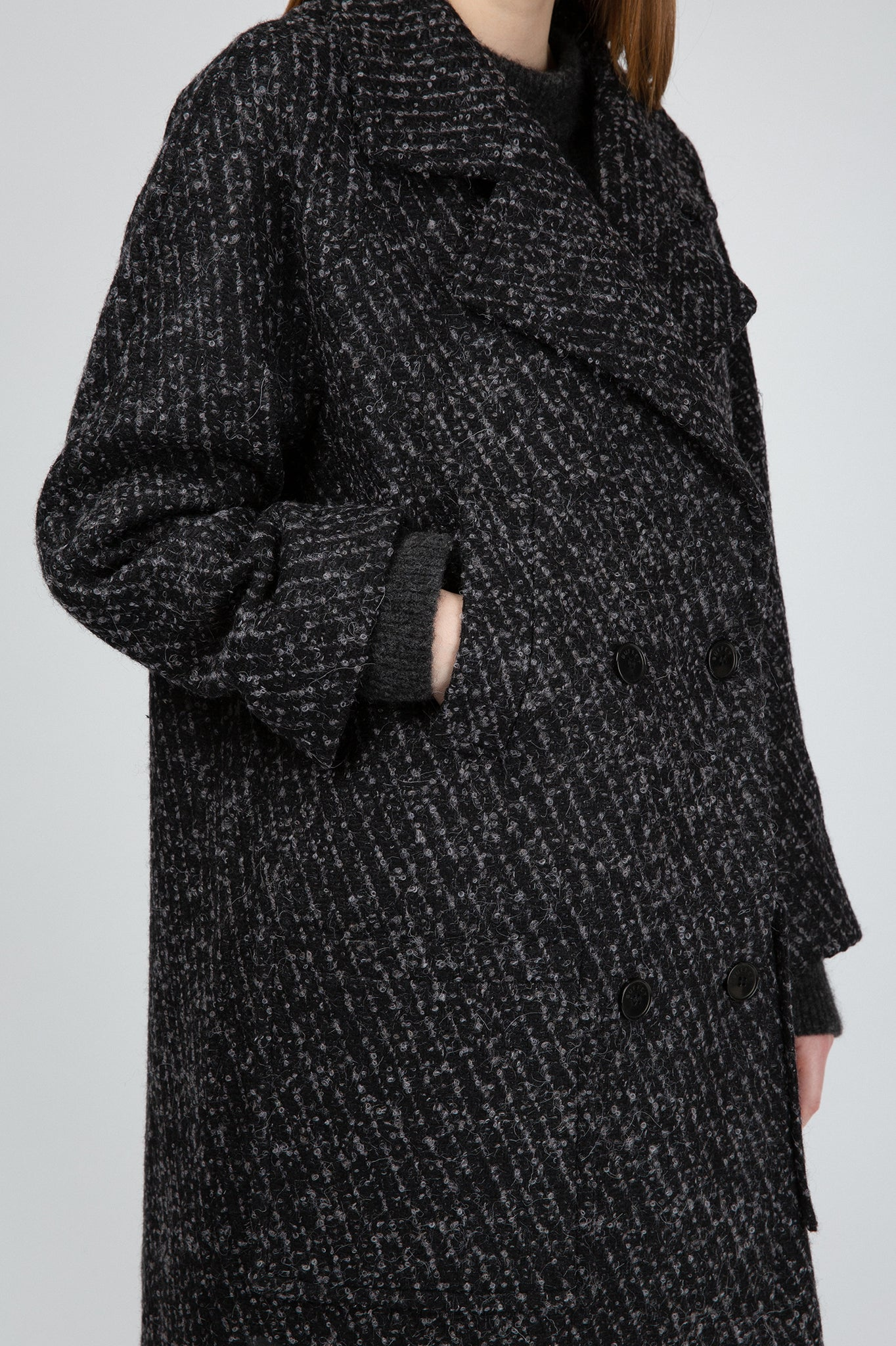 Buffet Dark Grey Oversized Coat