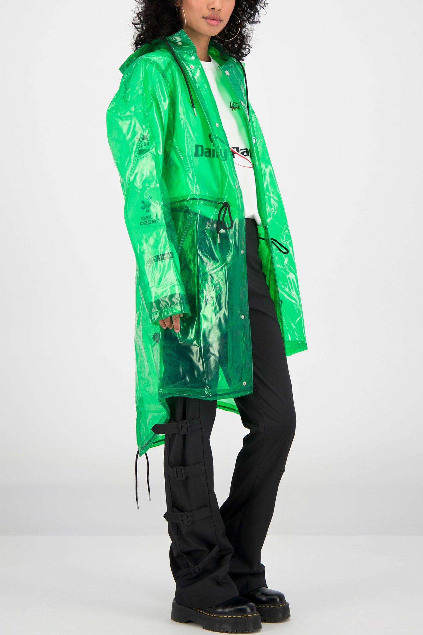 Daily Paper Green Transparent Raincoat