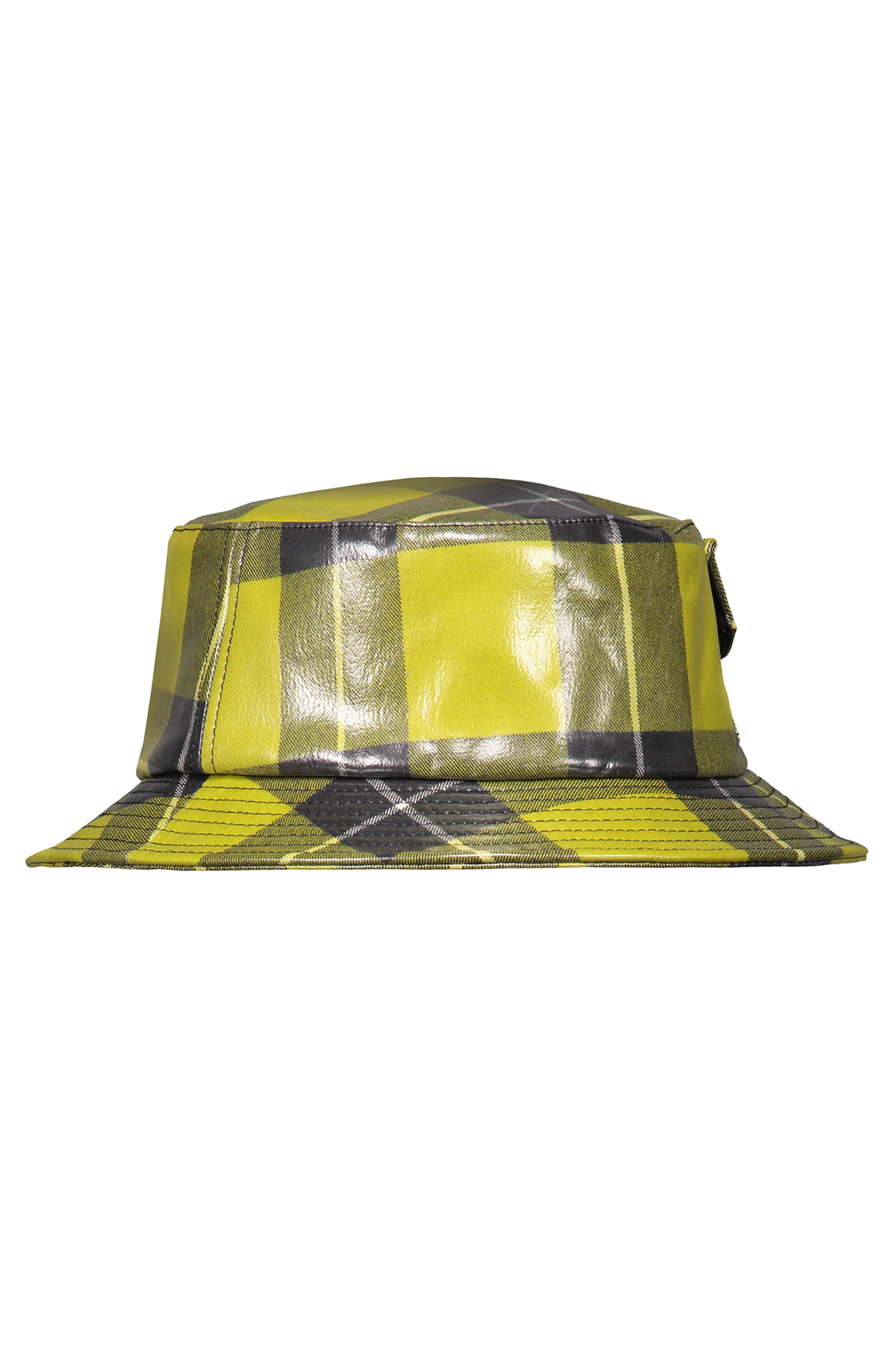 Daily Paper Yellow Checkered Bucket Hat
