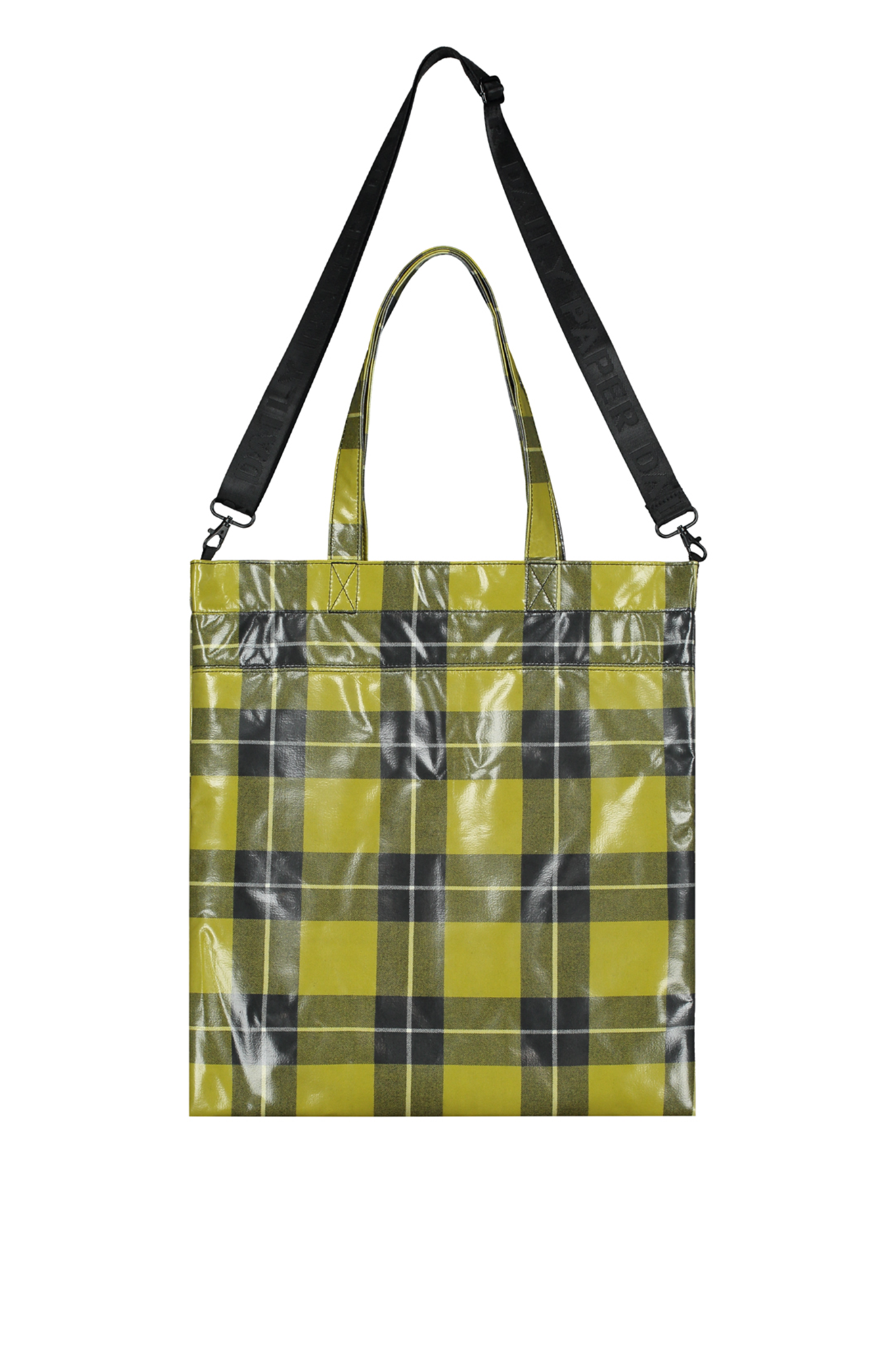 Daily Paper Yellow Checkered Tote Bag
