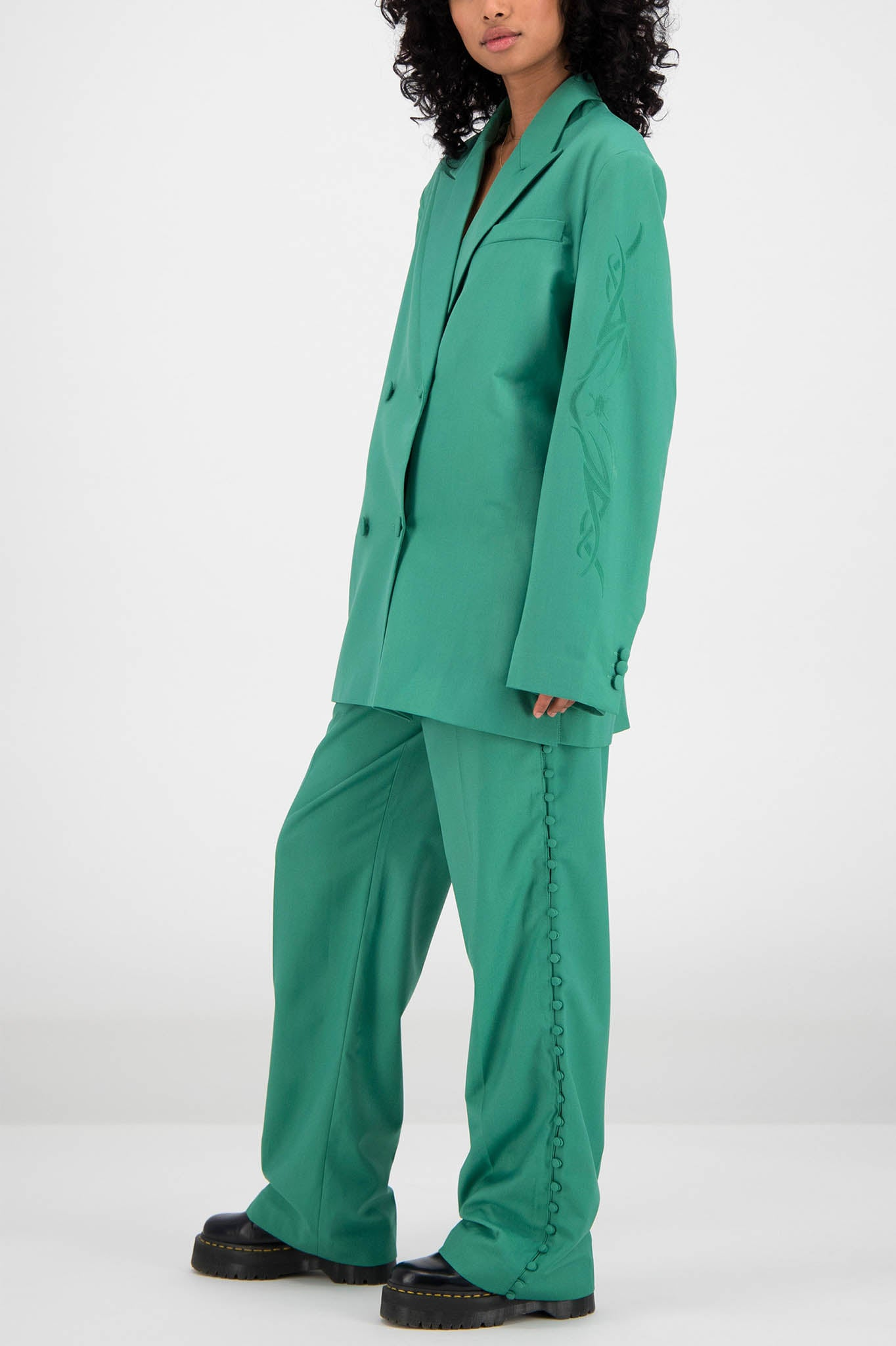 Daily Paper Oversized Green Blazer