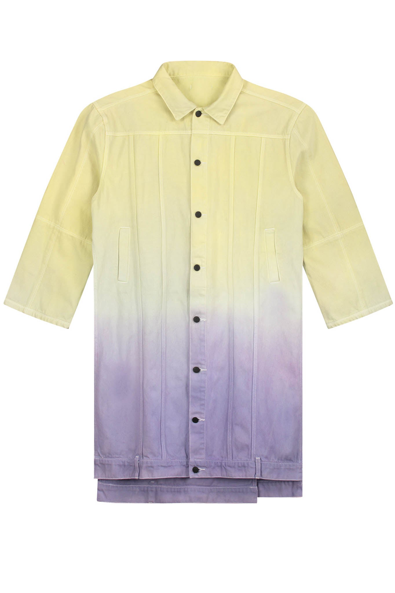 Daily Paper Purple and Yellow dyed Denim Jacket