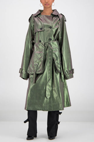 Daily Paper Snake Fante Jacket in Green