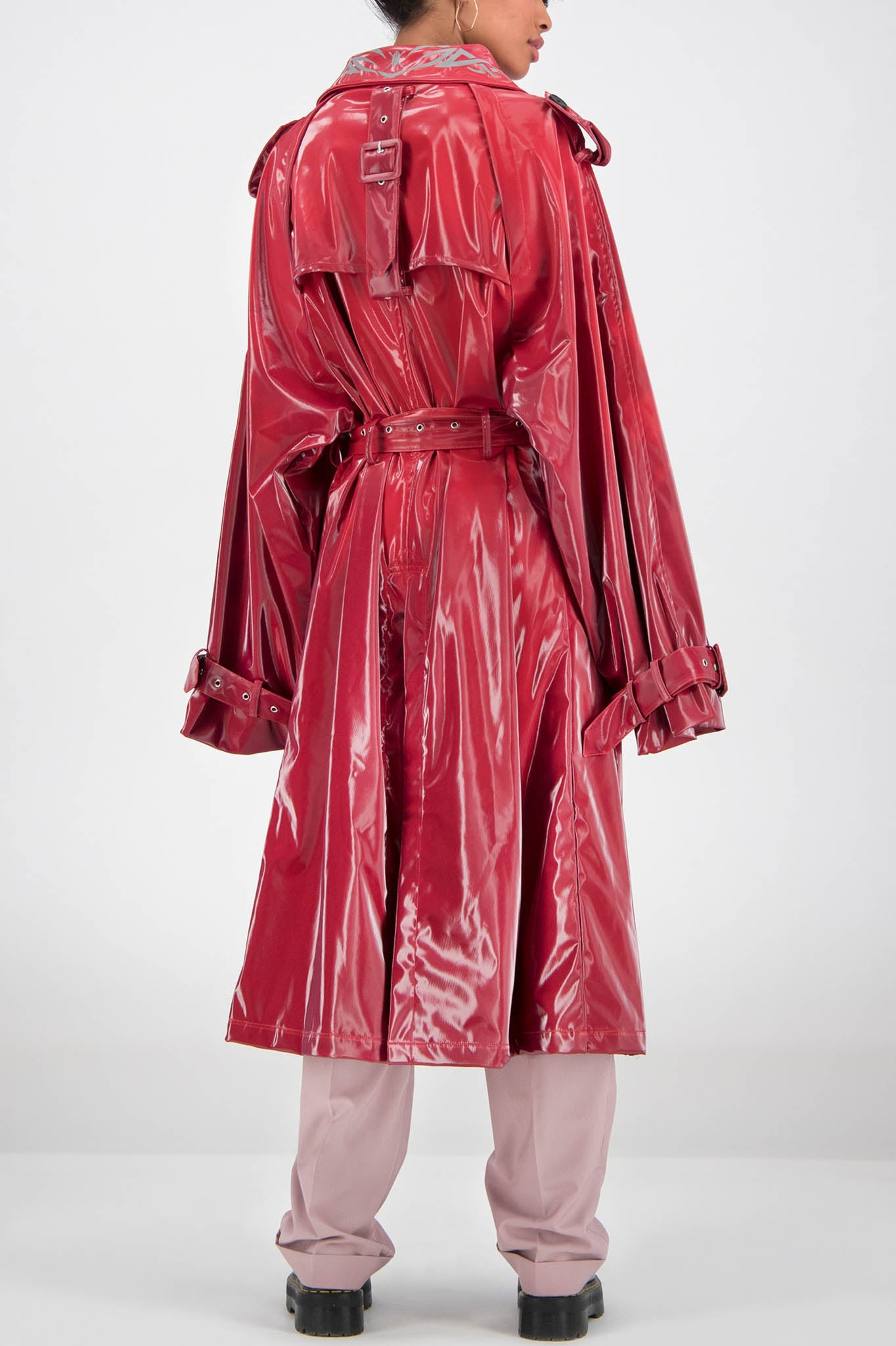 Daily Paper Red Trench Coat