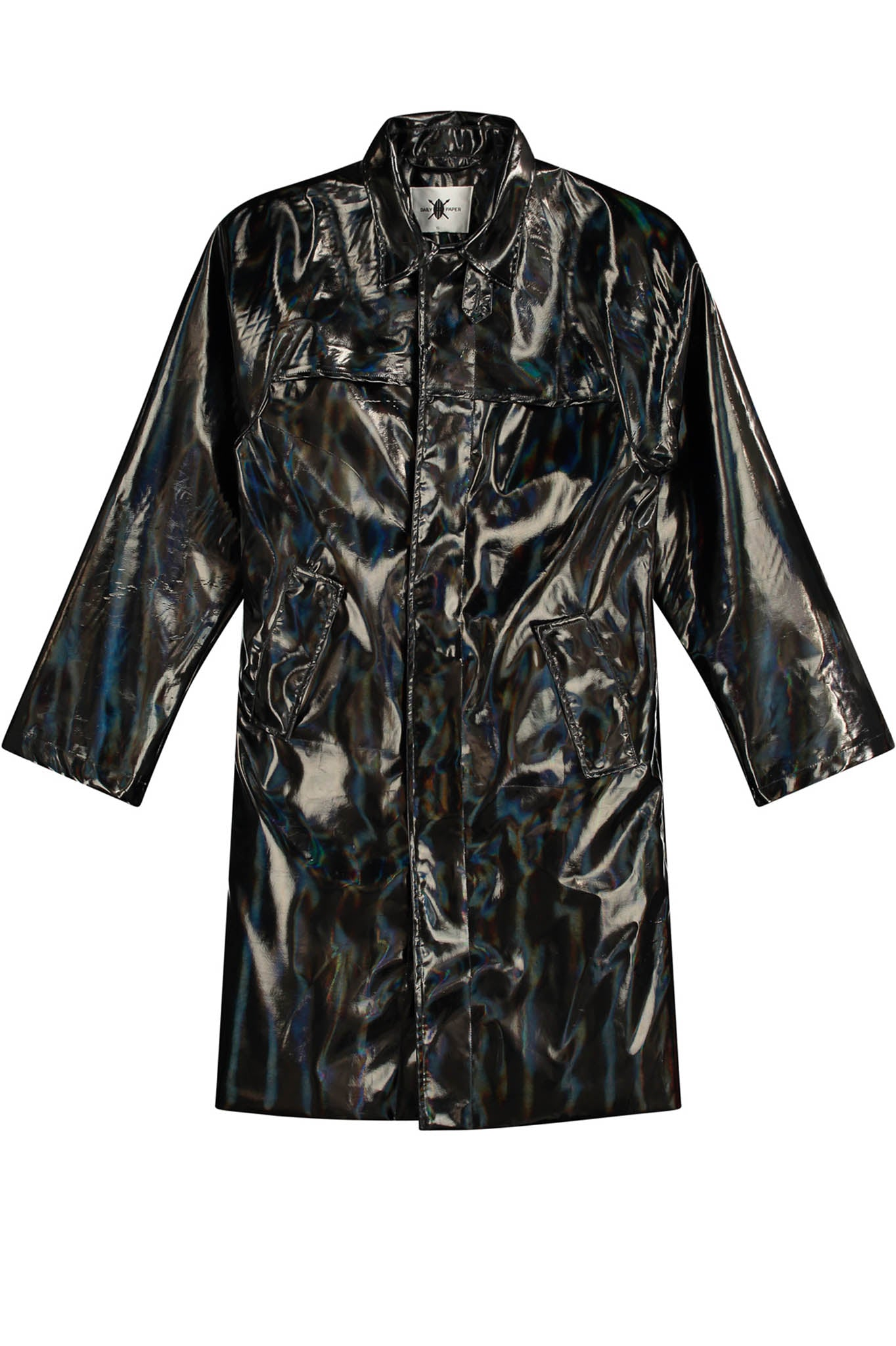 Daily Paper Black Holographic Rain Coat