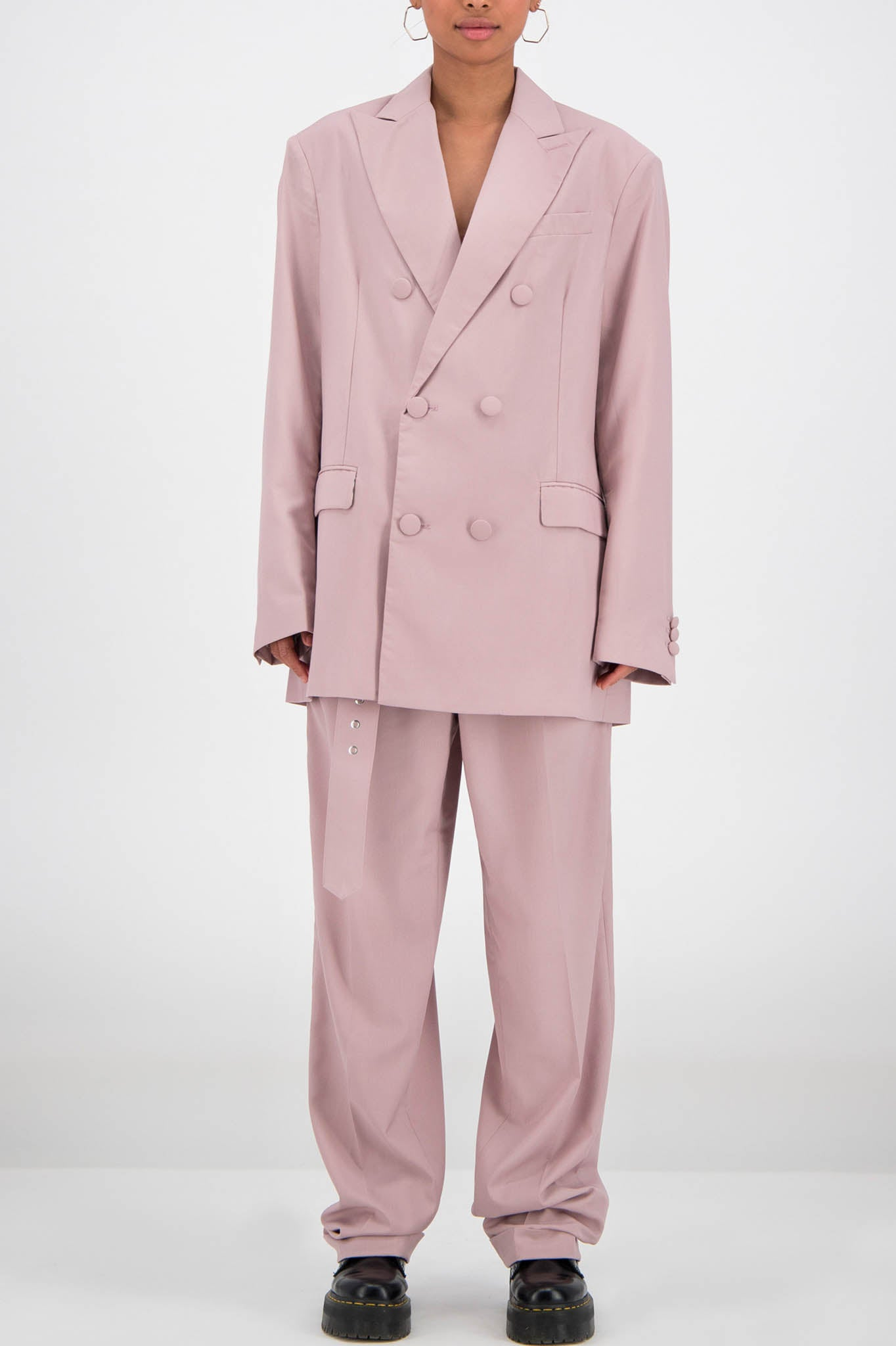 Daily Paper Oversized Pale Pink Blazer