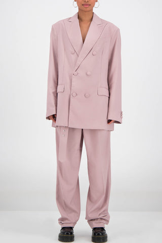 Daily Paper Oversized Fecker Blazer in Old Pink