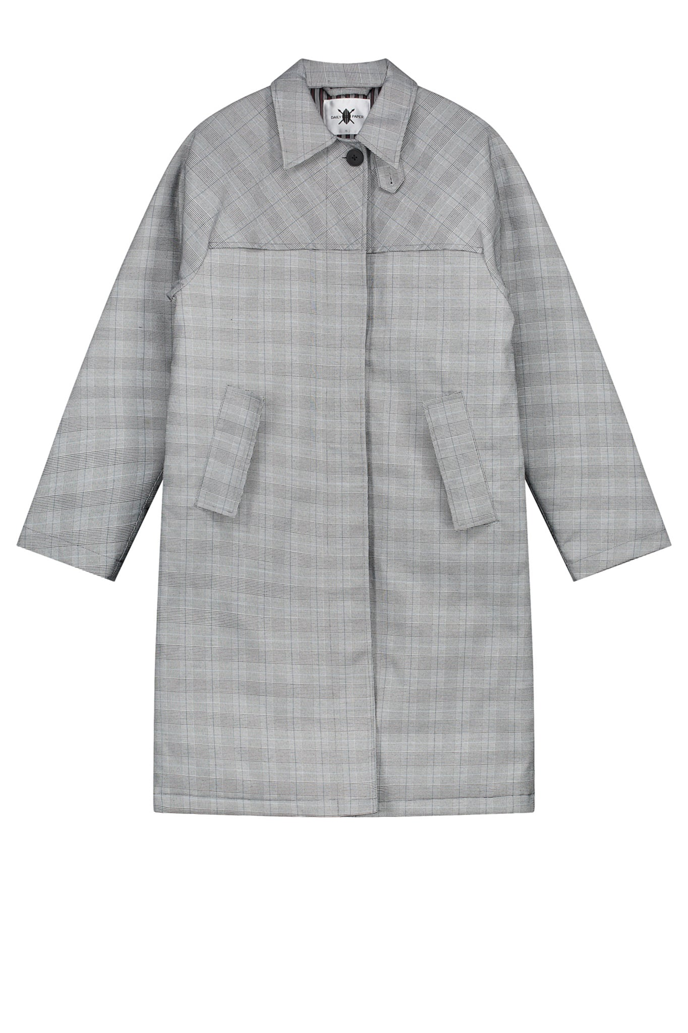 Daily Paper Oversized Grey Checkered Coat