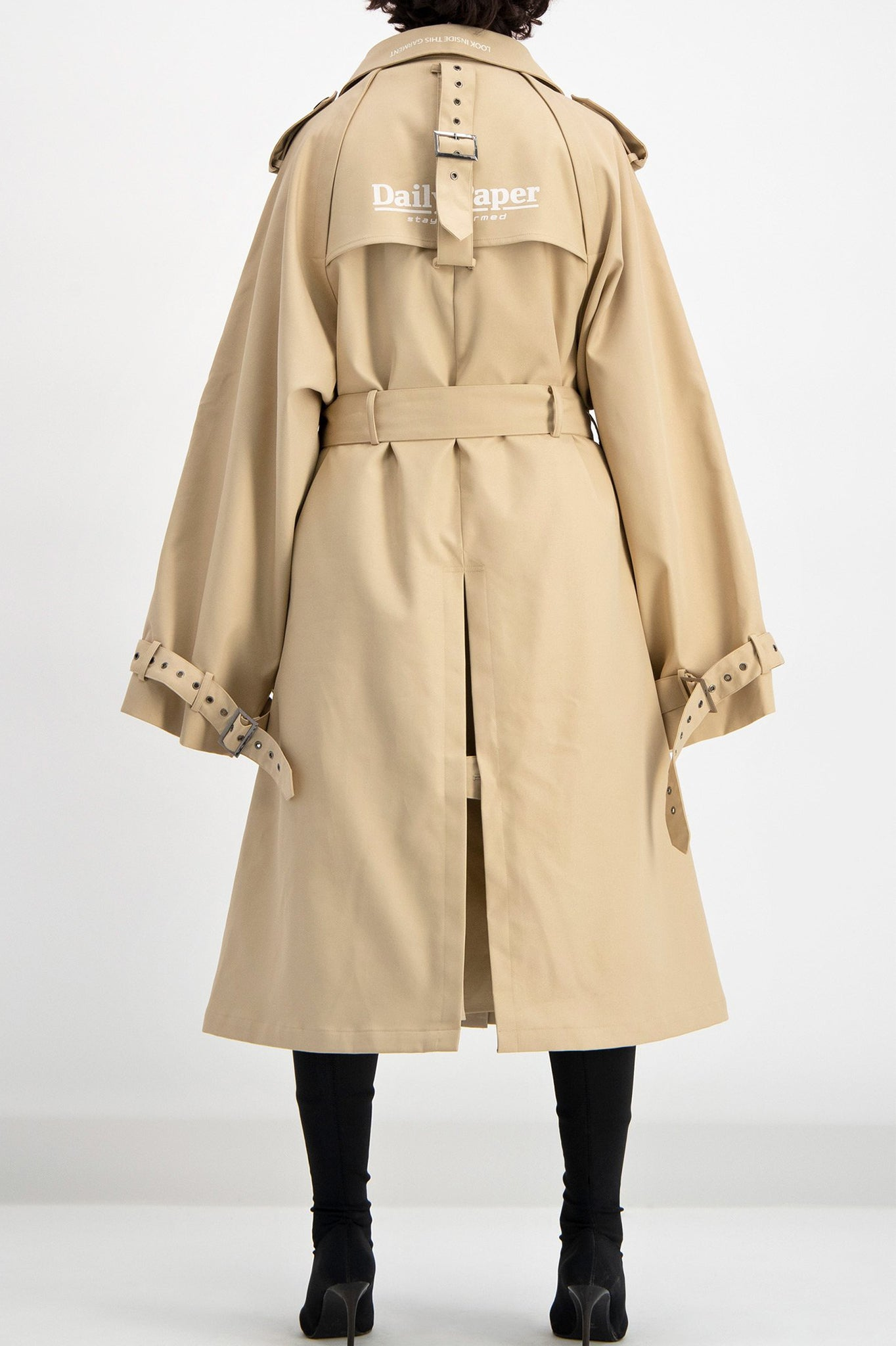 Daily Paper Oversized Beige Trench Coat