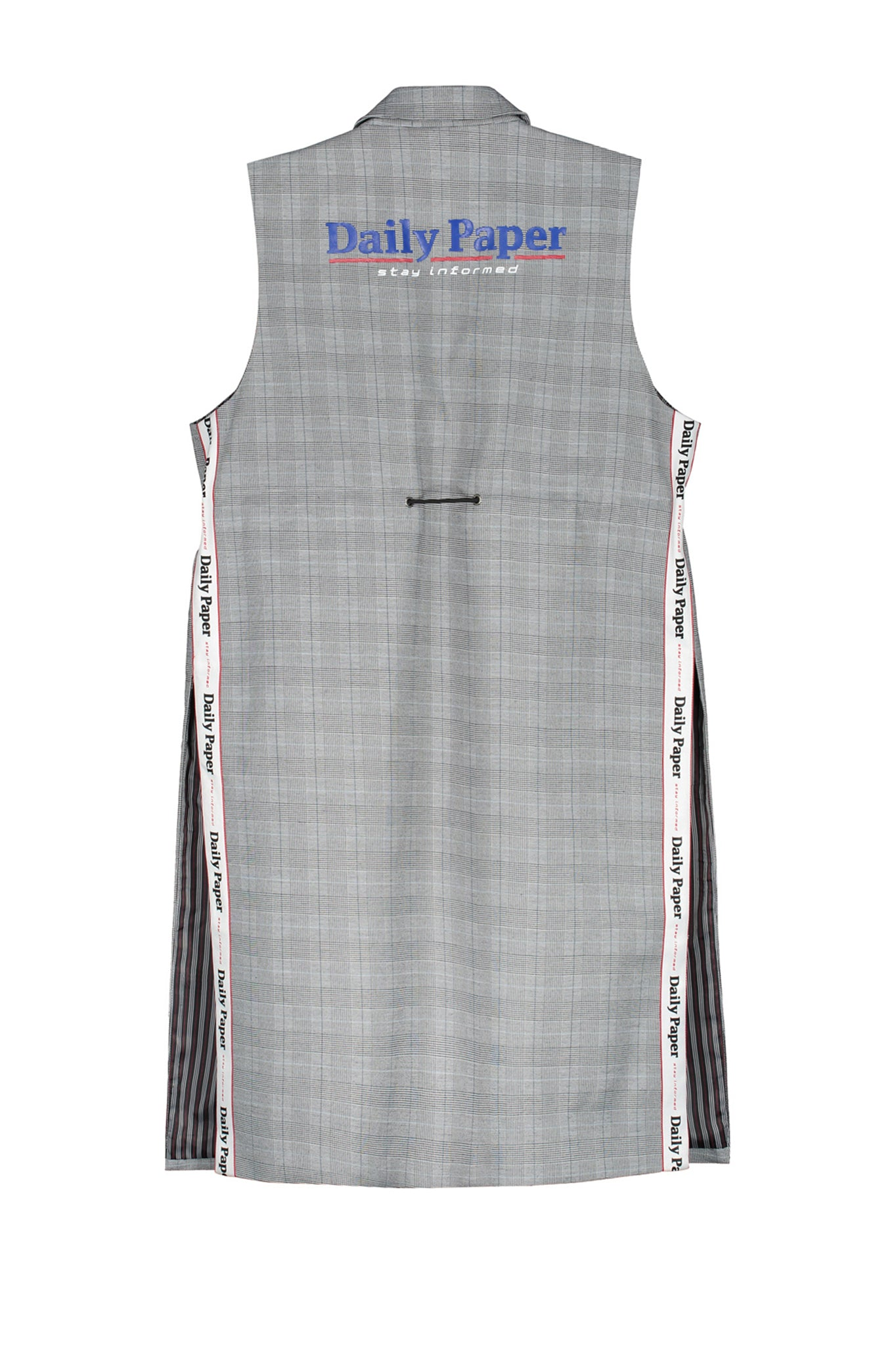 womens grey vest blazer by Daily Paper back view by Daily Paper
