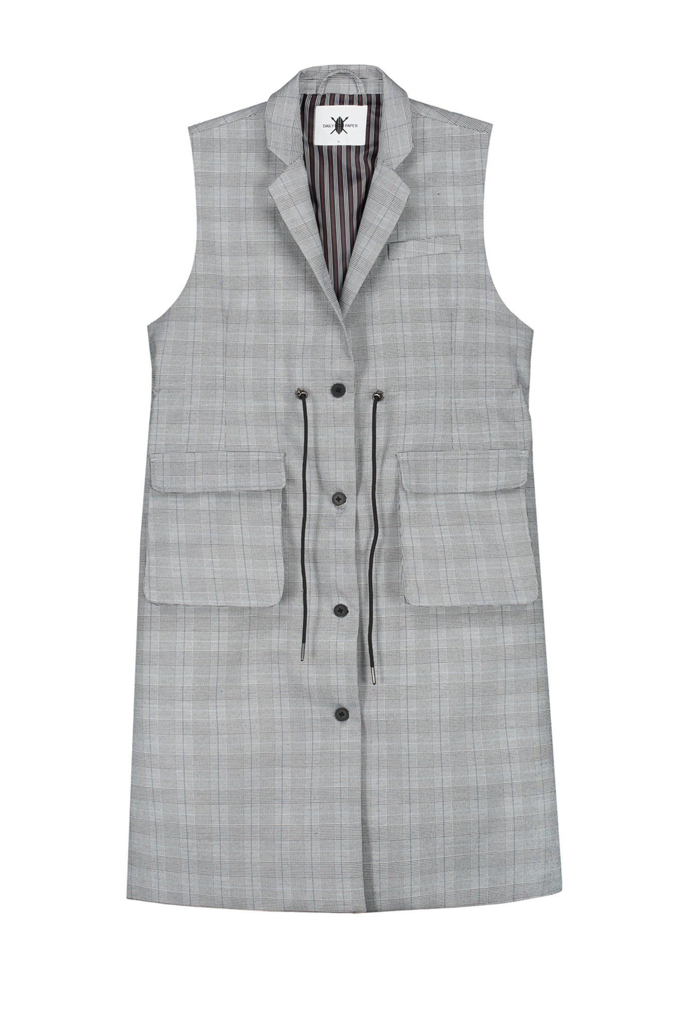womens grey vest blazer by Daily Paper