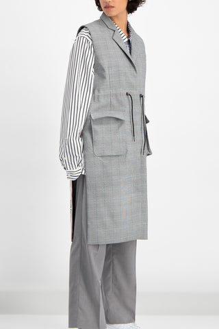 Daily Paper Vest Blazer in Dish Grey