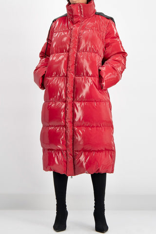 Dubl Puffer Coat in Red