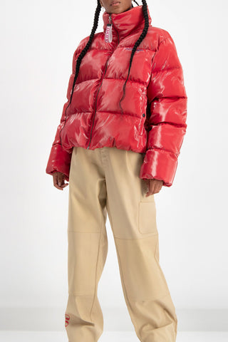 Duffer Puffer Jacket in Red