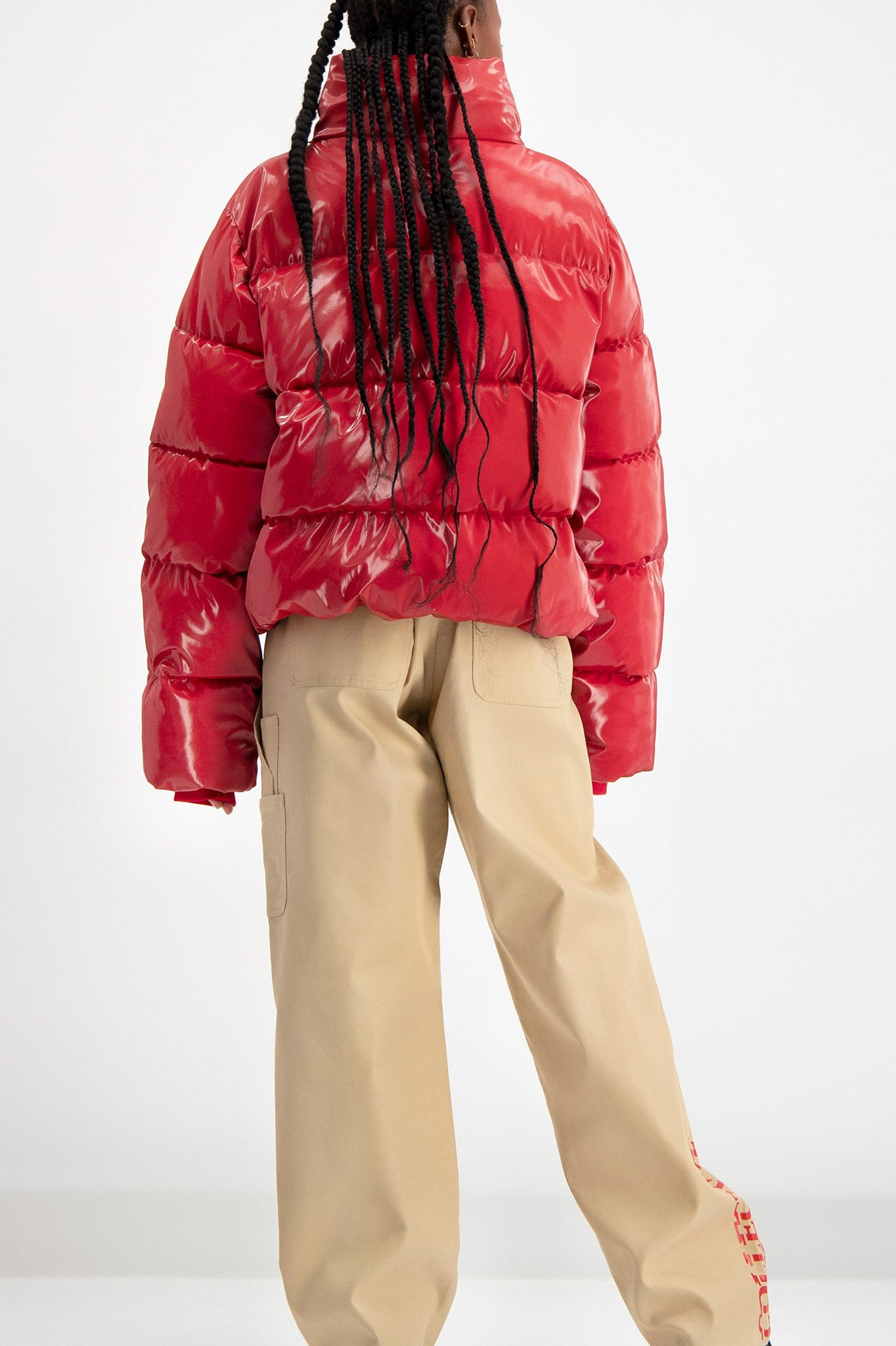 Daily Paper Short Red Puffer Jacket