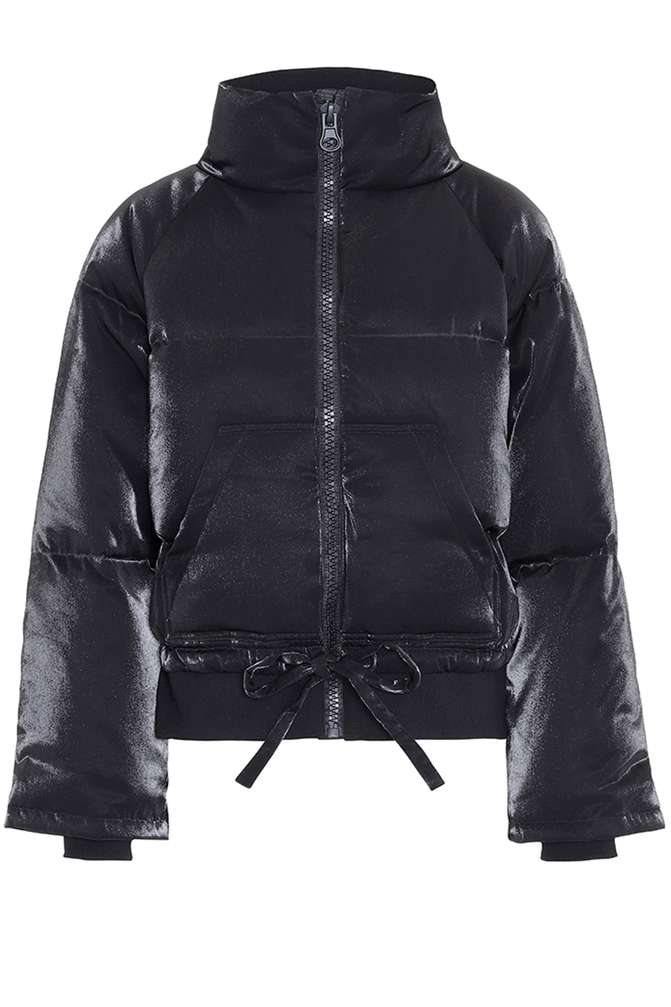 Hunkon Black High Neck Puffer Coat