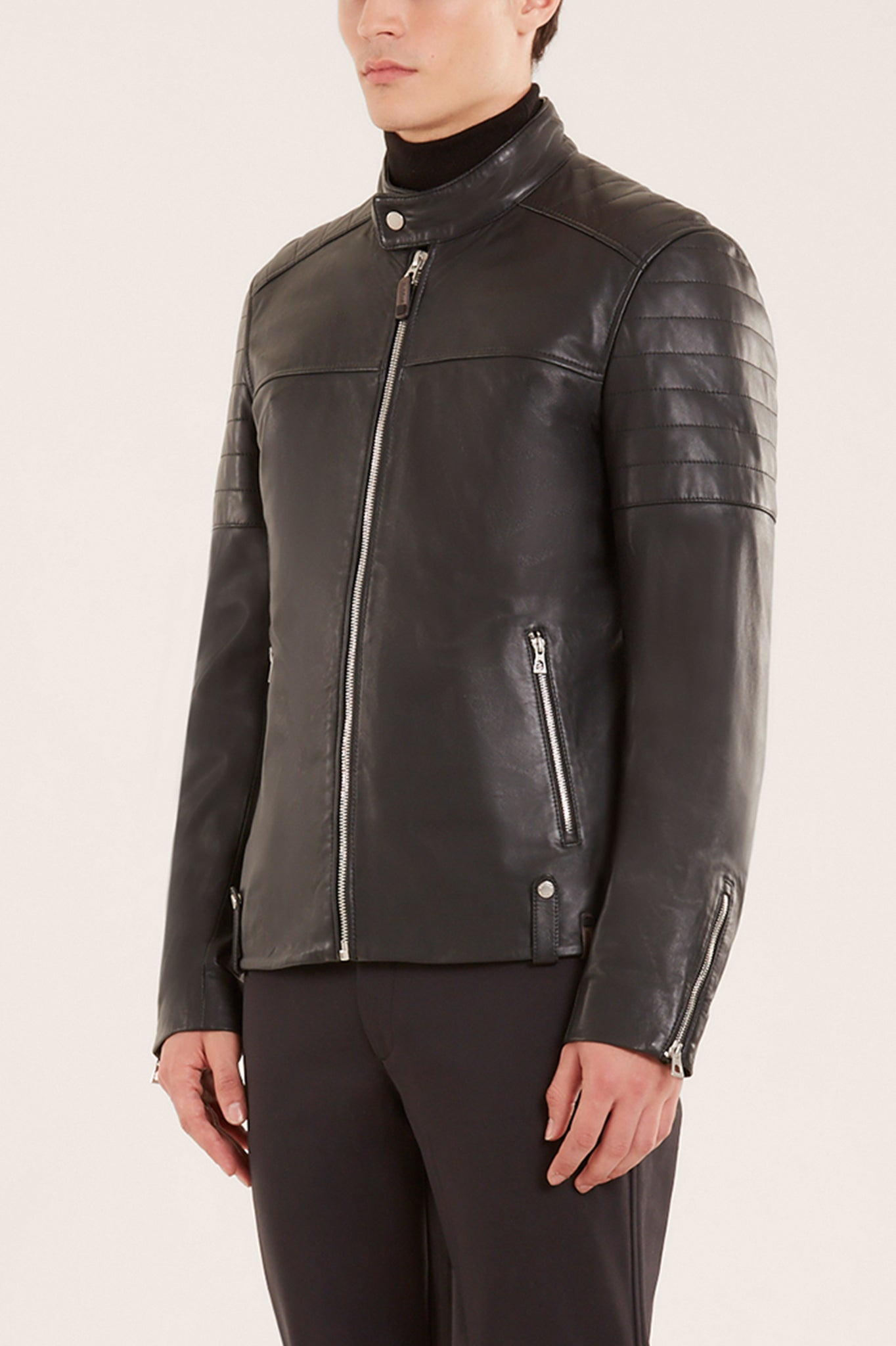 Rudsak Classic Black Leather Moto Jacket