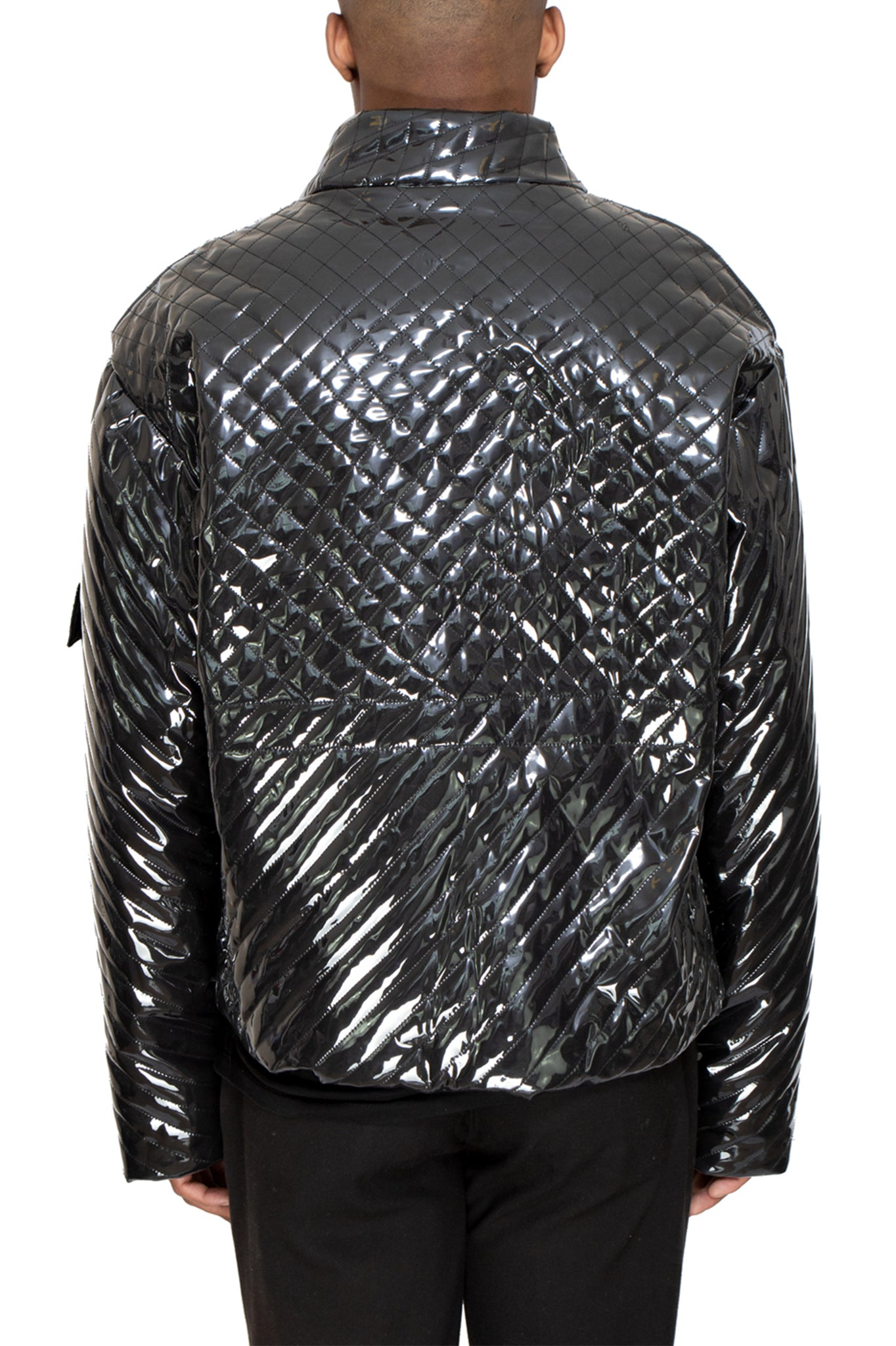 Raus Black PVC Jacket