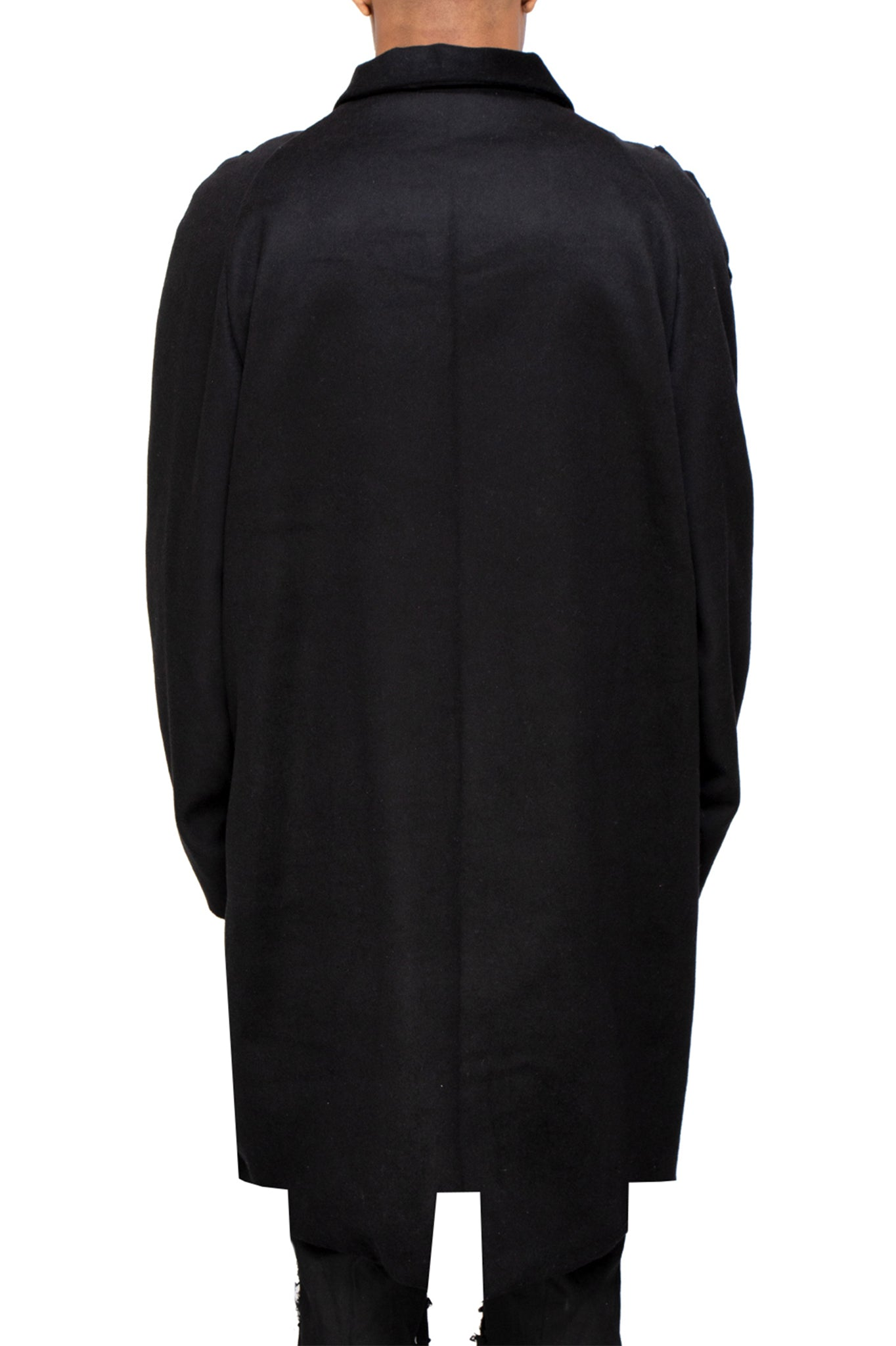 Raus Cashmere and Wool Woven Style Overcoat