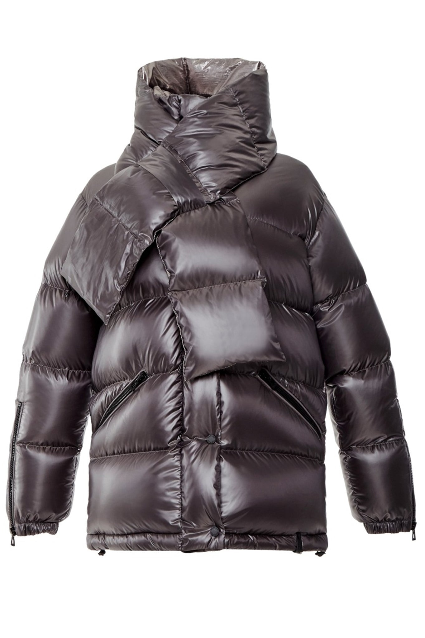 Rudsak Grey Puffer Coat with Detachable Down Scarf