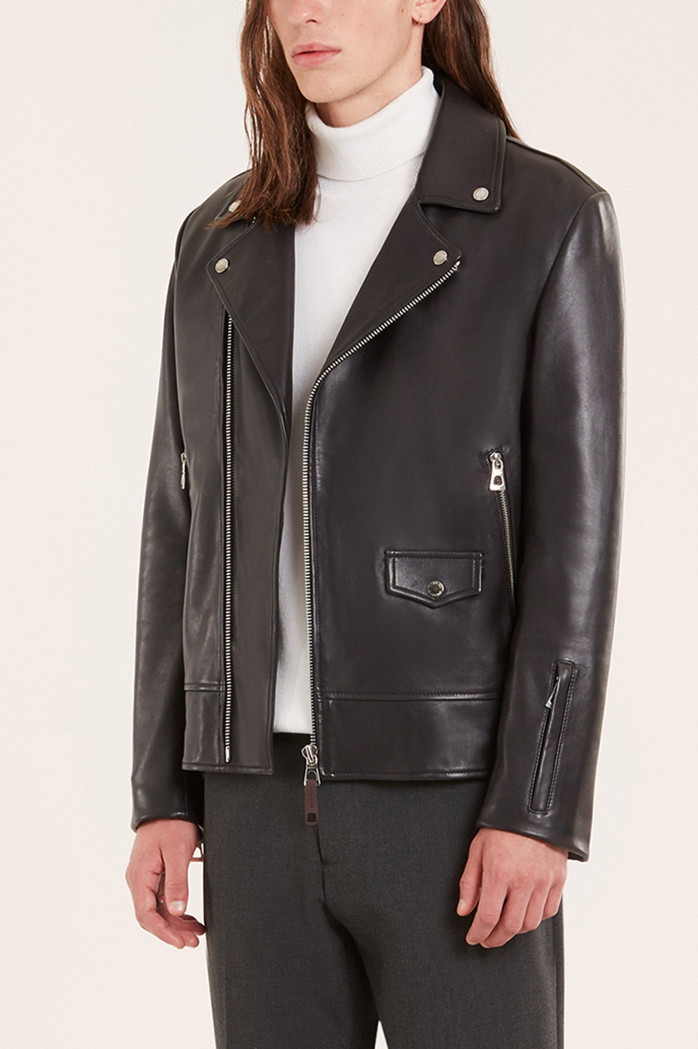 Rudsak Classic Black Leather Biker Jacket