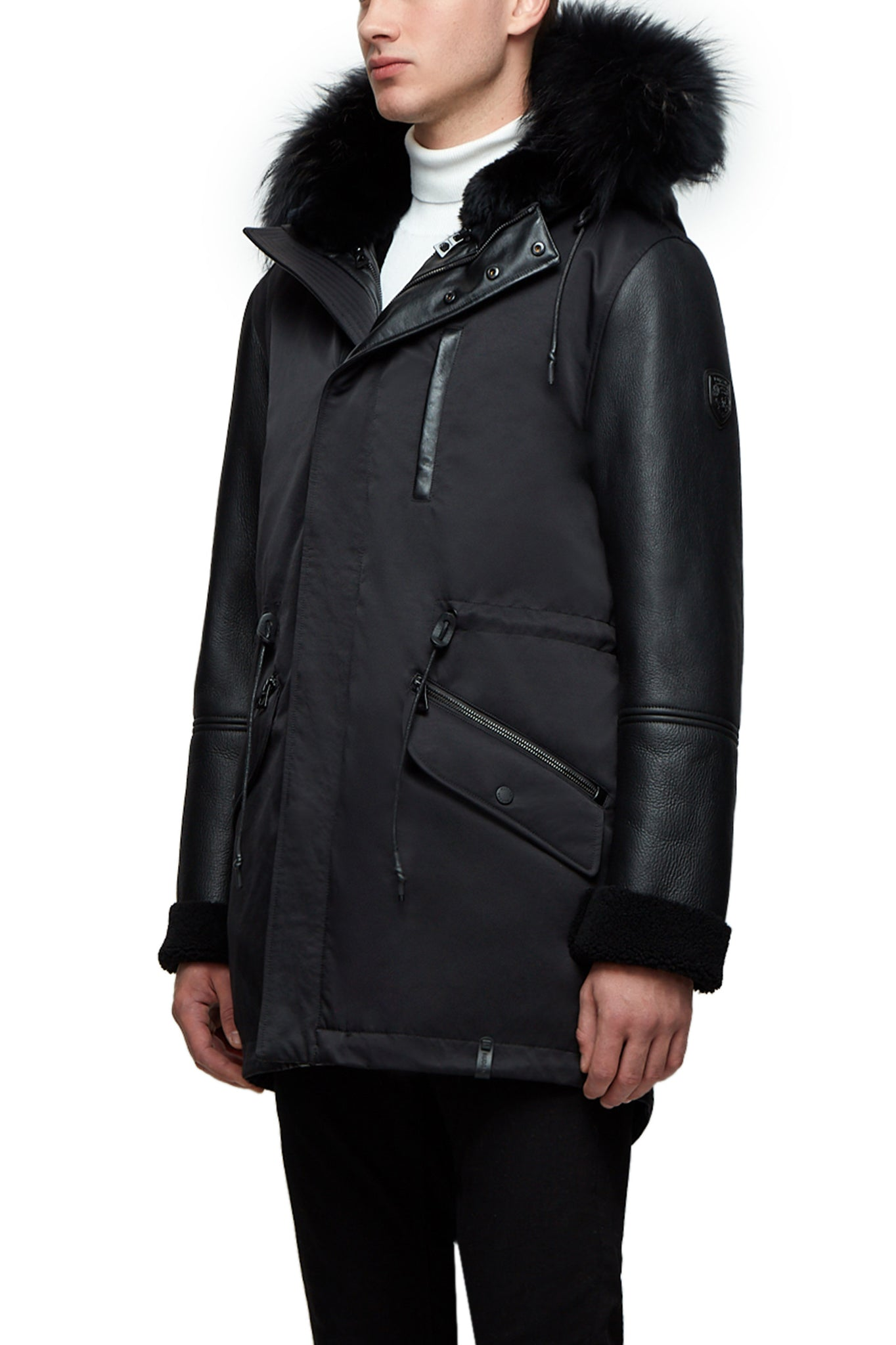 Rudsak Black Parka Coat with Hood