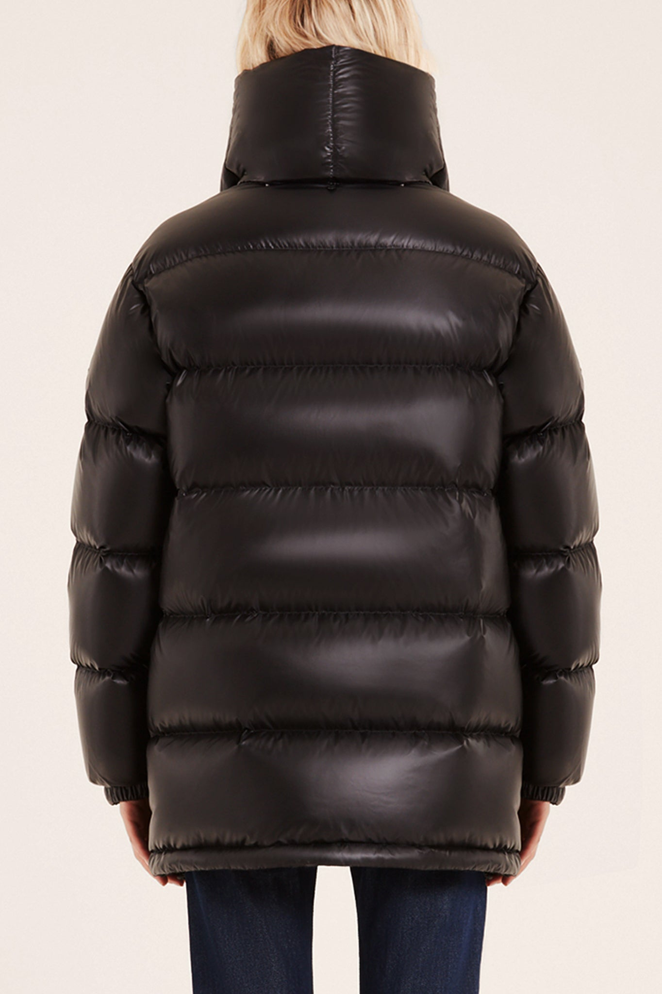 Rudsak Black Puffer Coat with Detachable Down Scarf