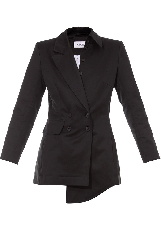 Black Asymmetrical Blazer