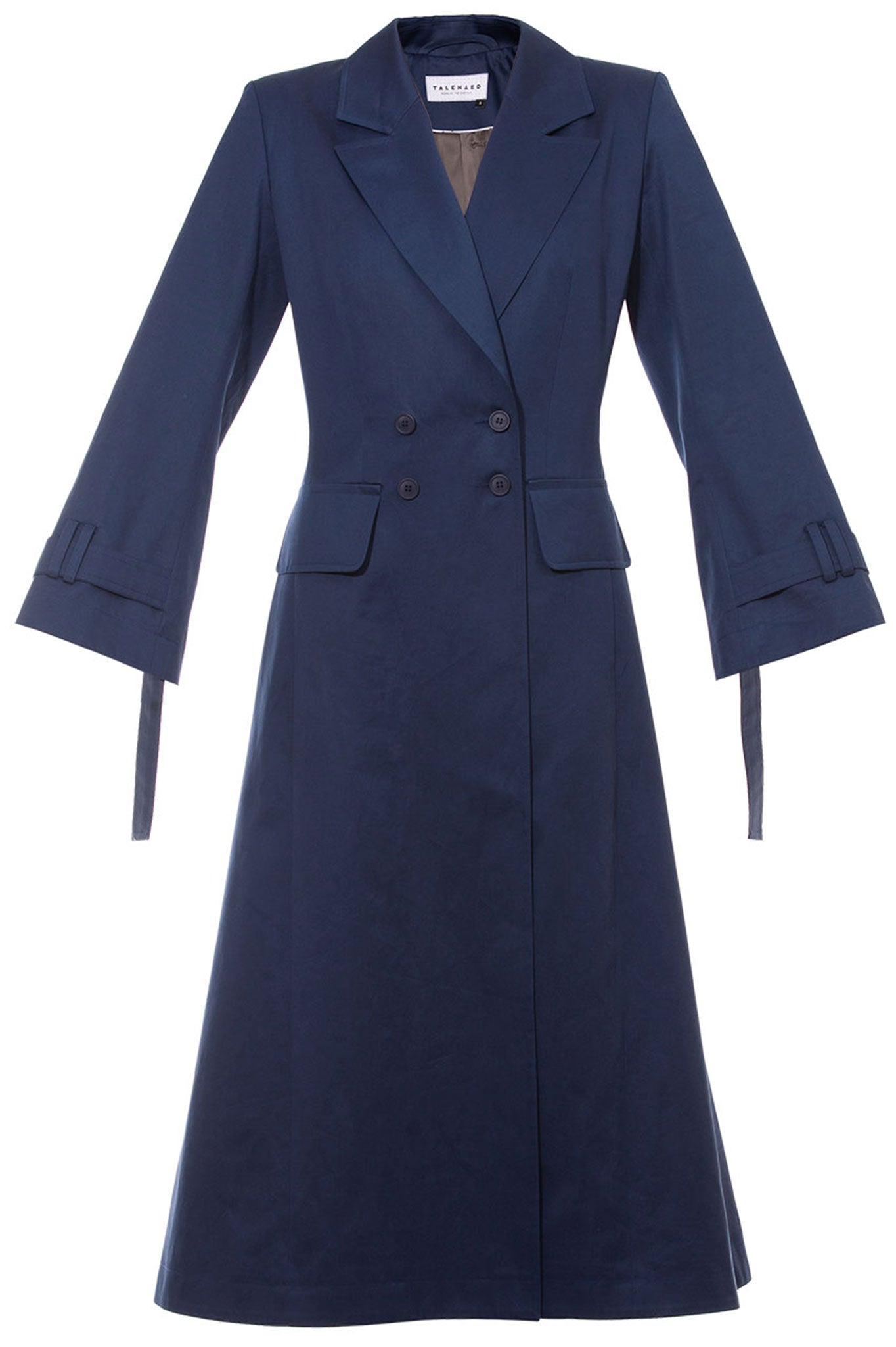 Talented Navy Double Breasted Trench Coat