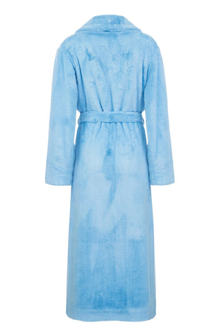 Blood & Honey Faux Fur Robe Coat in Blue