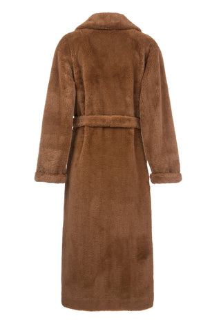 Brown Faux Fur Robe Coat
