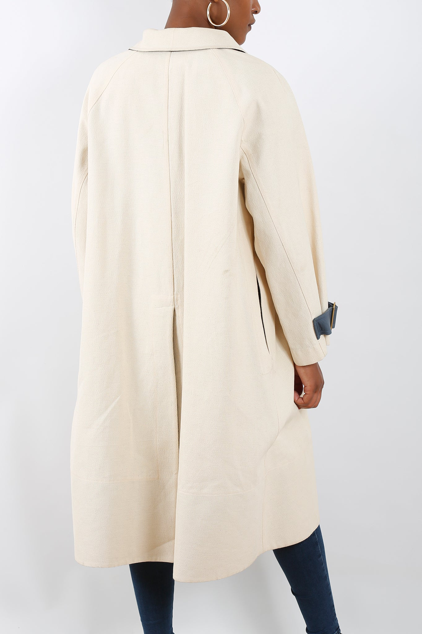 Cyrus Canvas Coat in White