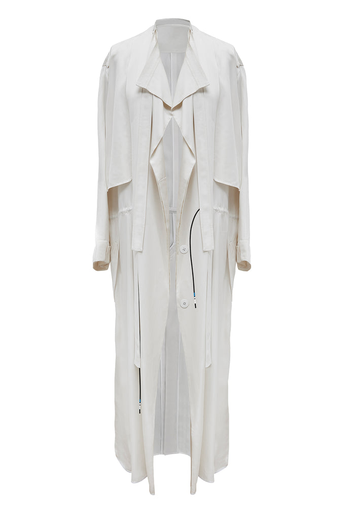 cimone off white oversized trench coat front
