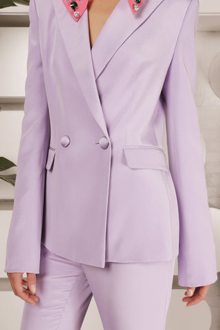 Victoria Hayes Gemma Blazer in Purple