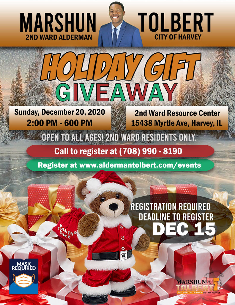 The Holiday Gift Giveaway of Harvey, Illinois 2020