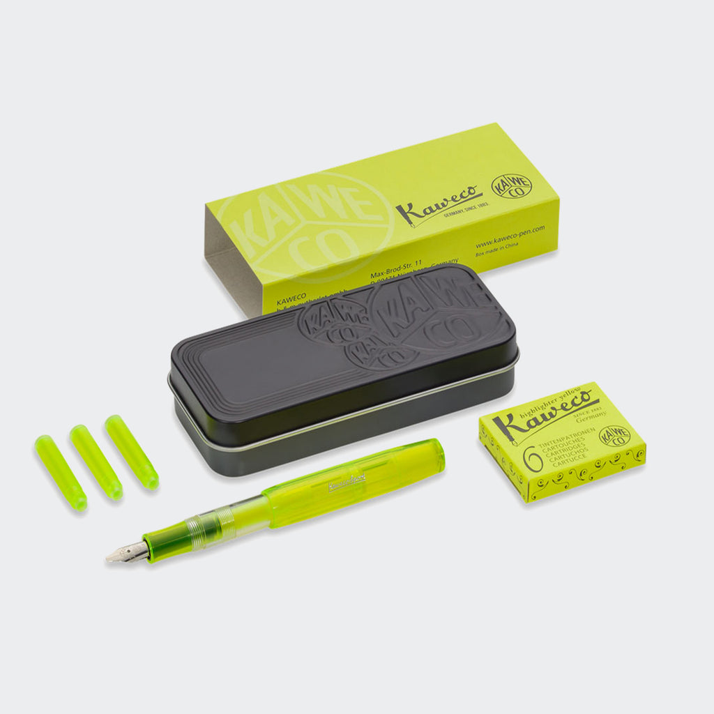 Kaweco Glow Marker Set Neon Yellow