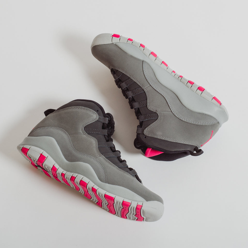 Big Kid's Air Jordan 10 Smoke Grey